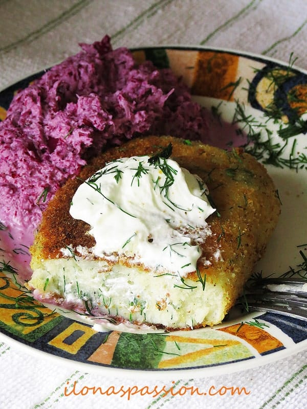 Potato-Pancakes-with-Dill,-parsely-and-Red-Cabbage