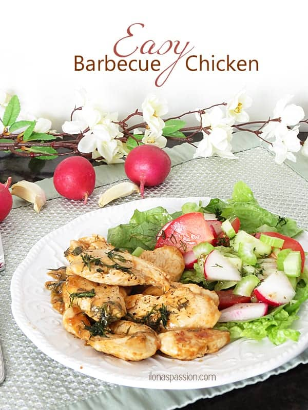 Easy Barbecue Chicken... ready in 30 minutes! by ilonaspassion.com