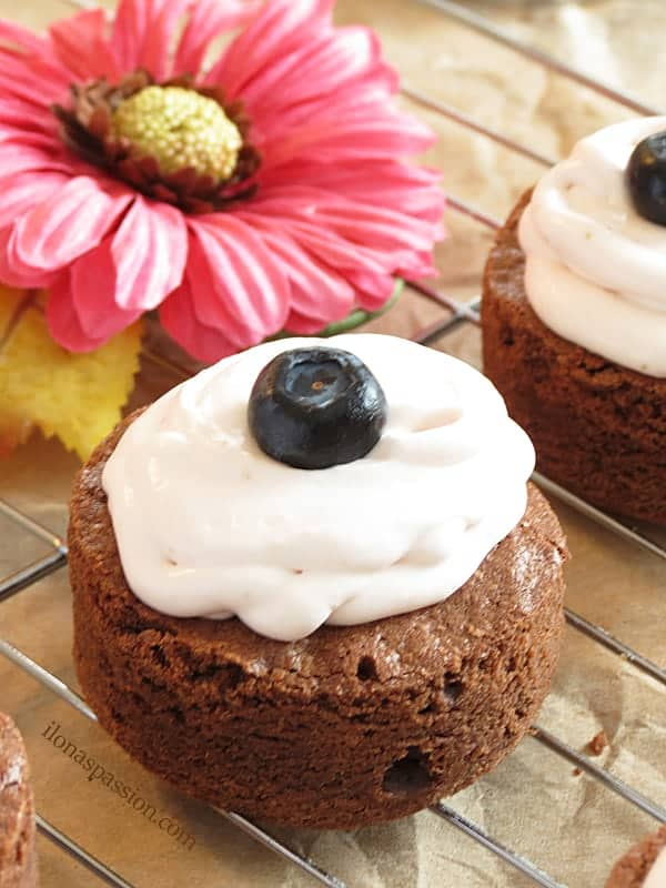 The Best Homemade Brownies with Cream Cheese Frosting by ilonaspassion.com