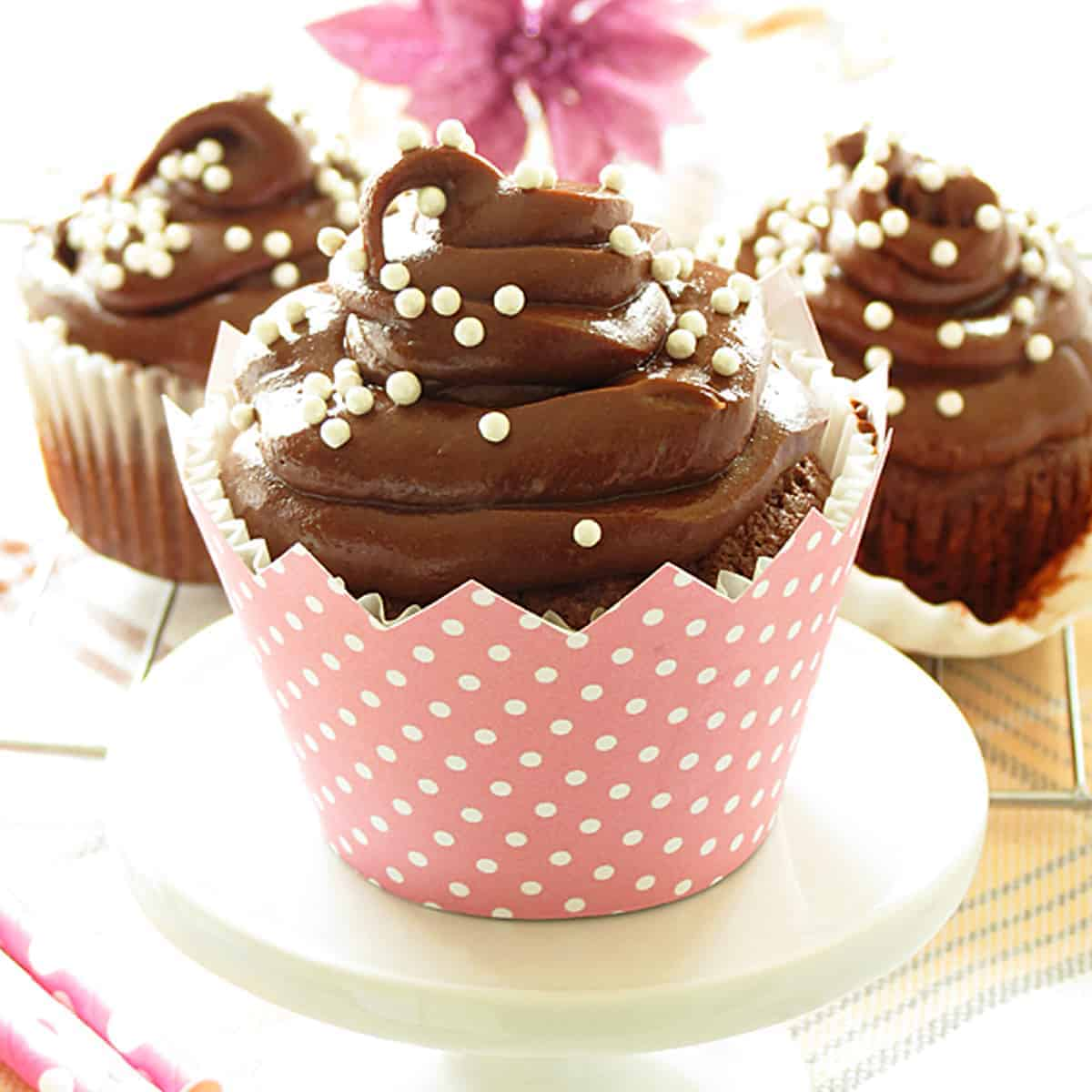 Chocolate Cupcakes with Nutella Frosting - Ilona's Passion