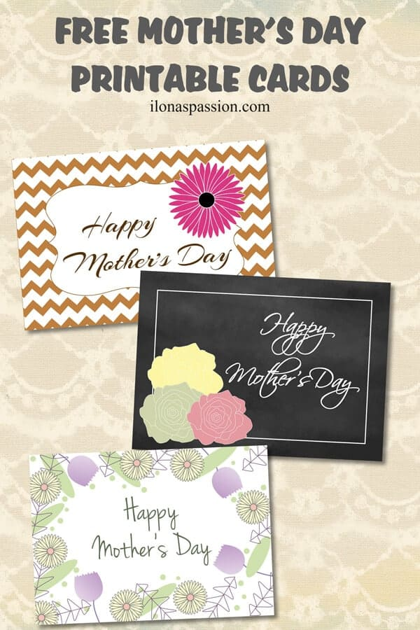picture about Happy Mothers Day Printable Cards titled Present Designs for Mother + No cost Printable Card - Ilonas Pion