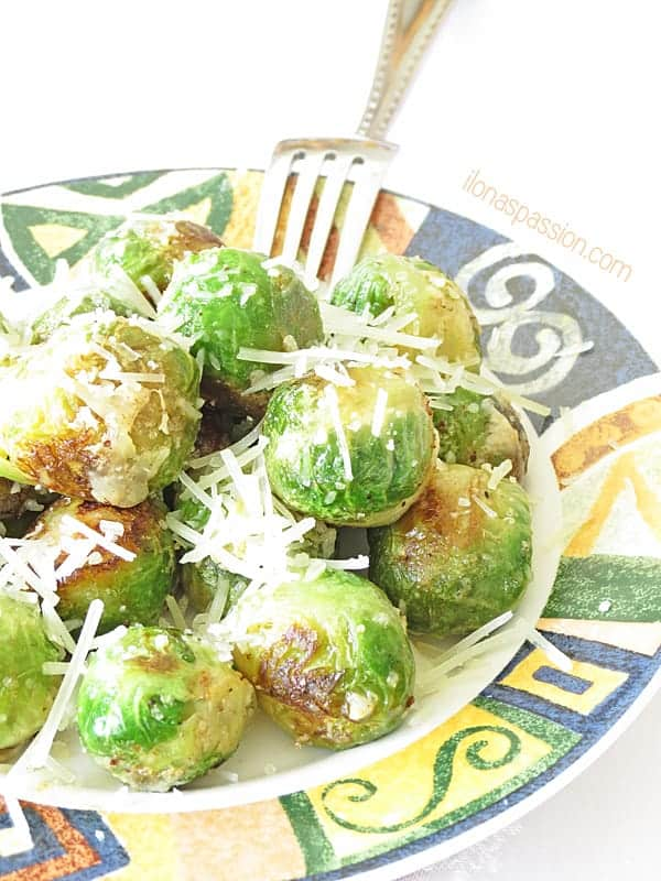 Buttery Parmesan Brussel Sprouts by ilonaspassion.com