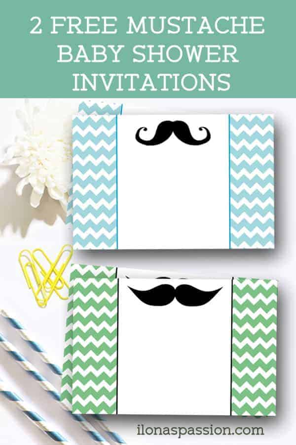 photo about Free Printable Mustache Baby Shower Invitations referred to as Free of charge Mustache Child Shower Invites - Ilonas Pion