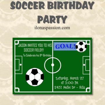 Planning Soccer Birthday party? I've got popular soccer birthday invitations that are printable and customized. Get your soccer invitation today! by ilonaspassion.com I @ilonaspassion