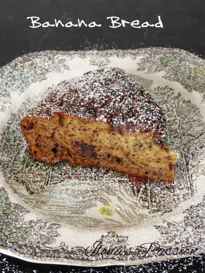 Moist Banana Bread with Chocolate Chips by ilonaspassion.com