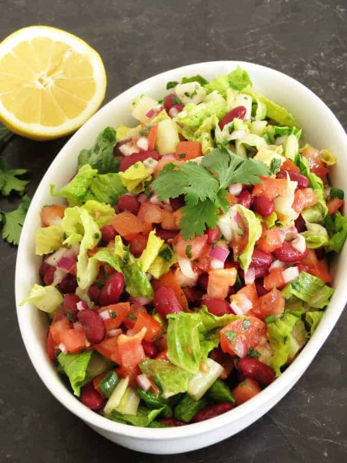 Beans Salad with cilantro dressing2