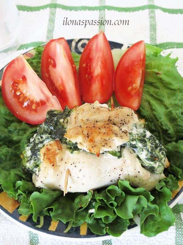Stuffed Chicken with Spinach and Cream Cheese by ilonaspassion.com