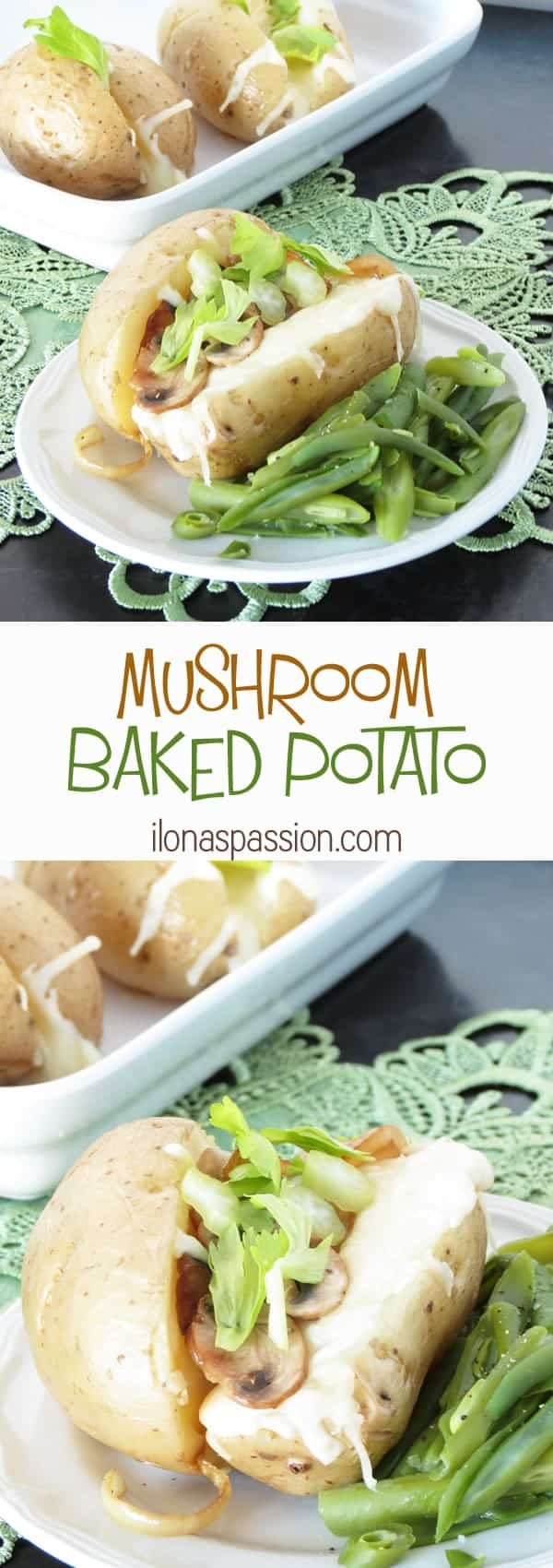 Easy Mushroom Baked Potato by ilonaspassion.com