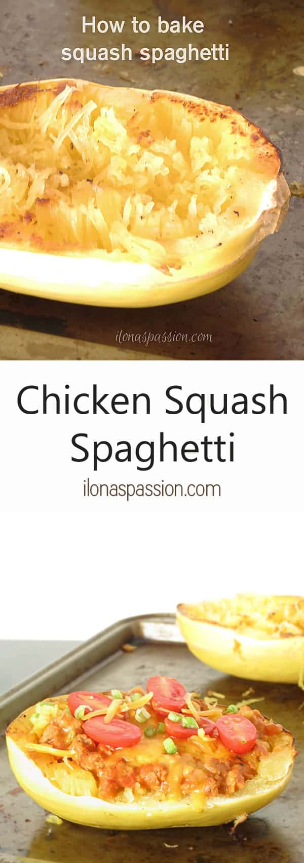 The Best Chicken Squash Spaghetti by ilonaspassion.com