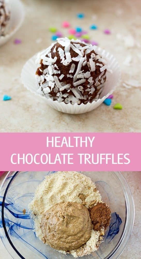 Easy to make vegan healthy chocolate truffles recipe with wholesome ingredients like almond meal and dates. Great edible gift idea by ilonaspassion.com I @ilonaspassion