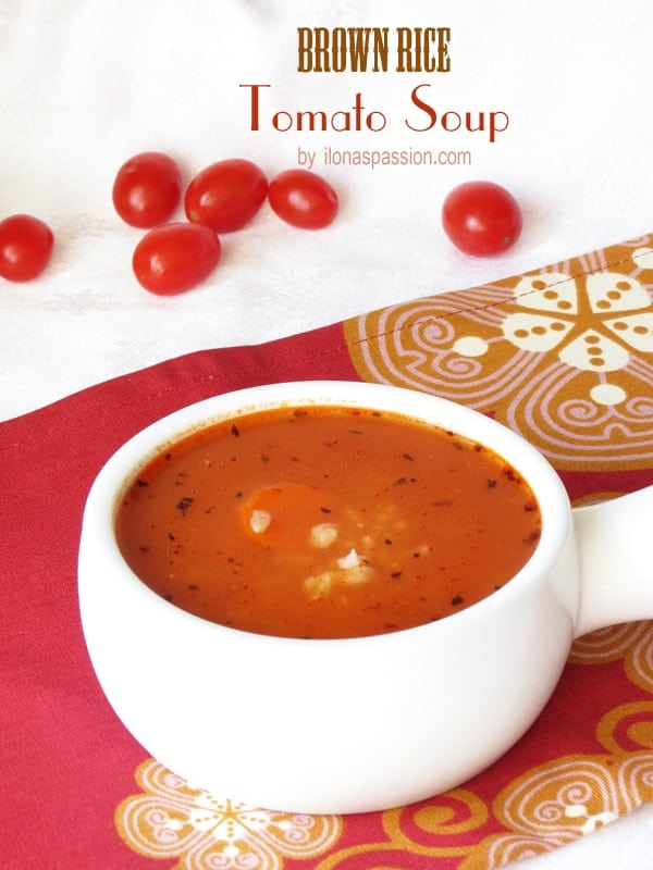 Brown Rice Tomato Soup