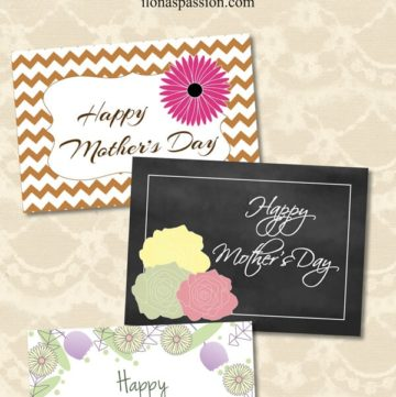 """Are you looking for some gift ideas for Mom? Check it on ilonaspassion.com FREE Printable """"Happy Mother's Day"""" Card and lots of gift ideas for mom I @ilonaspassion"""