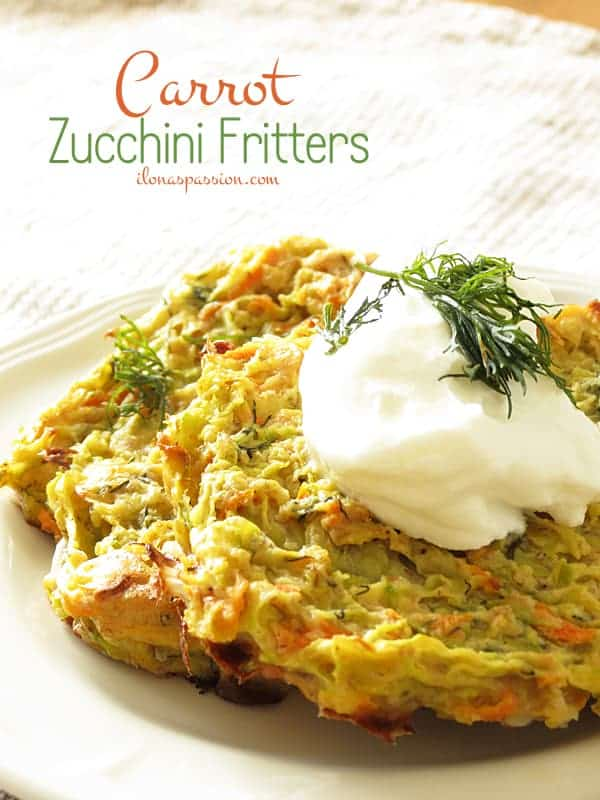 The BEST Carrot Zucchini Fritters by ilonaspassion.com