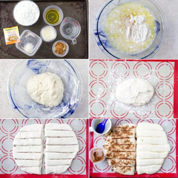 Step by step instructions how to make yeast breadstick sprinkled with cinnamon and brown sugar by ilonaspassion.com I @ilonaspassion
