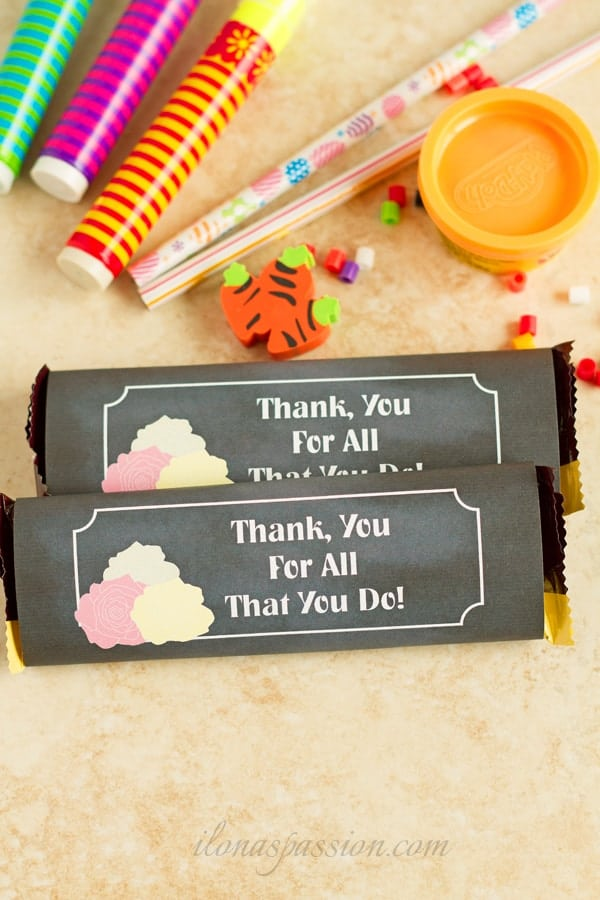 DIY Back to School Chocolate Bar Wrapper Printable