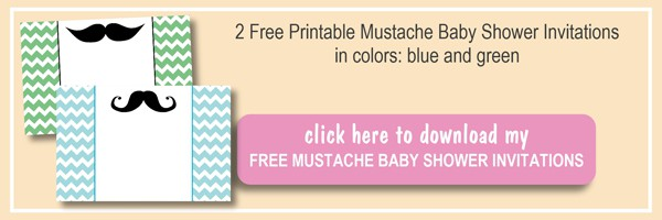 2 Free Mustache Baby Shower Invitations are perfect for the party. They can be also used for little man birthday party. Two colors to choose from! by ilonaspassion.com I @ilonaspassion