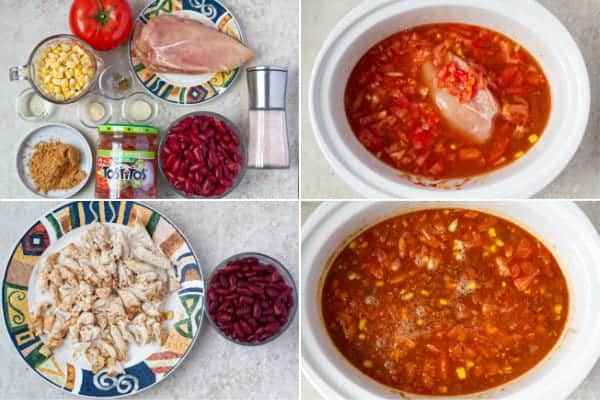 Step by step photos how to make cchicken soup with Mexican flavors.