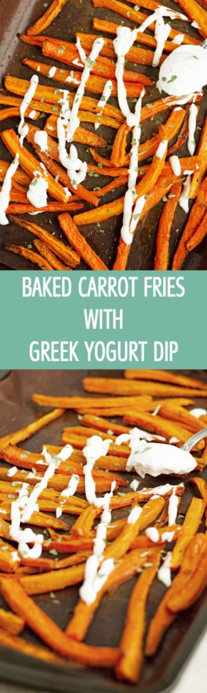 Great for parties a new! Baked Carrot Fries with Lemon Greek Yogurt Dip. Made only with few ingredients and healthy by ilonaspassion.com I @ilonaspassion
