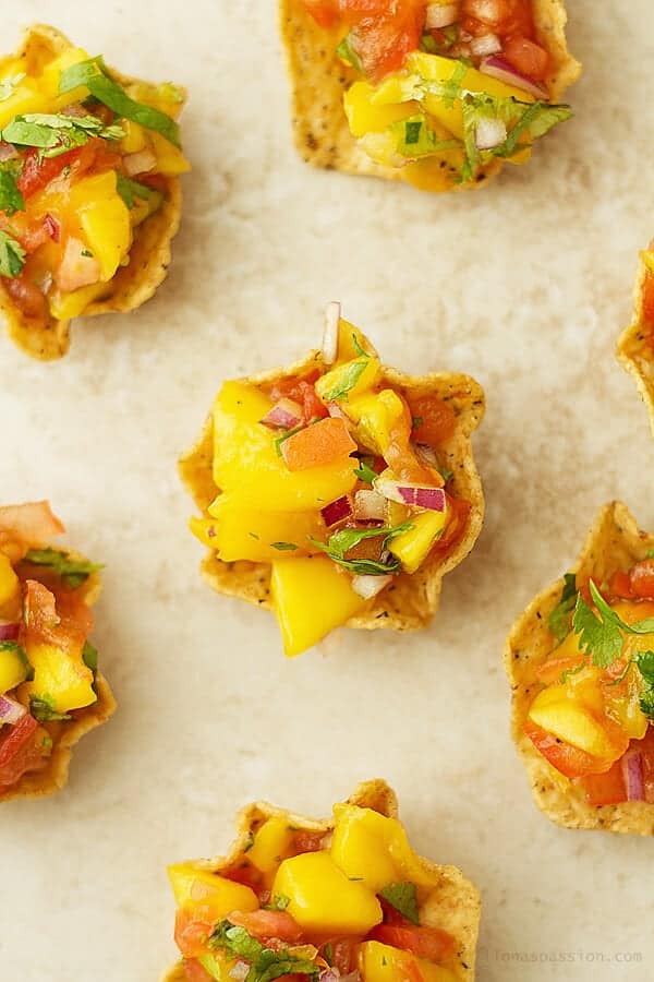 Mango Salsa Mini Cups