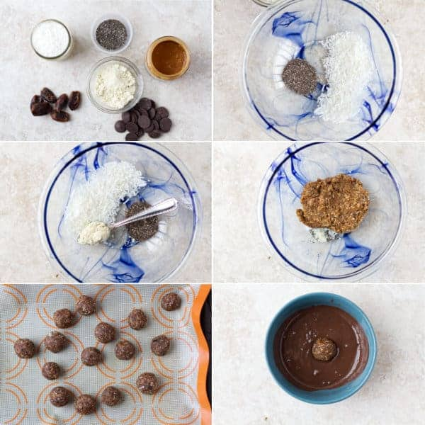 A step by step on how to make edible gift idea chocolate balls that are healthy by ilonaspassion.com I @ilonaspassion