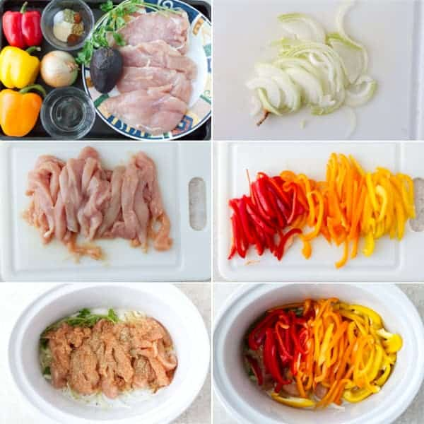 Step by step on how to make crockpot chicken fajitas with bell peppers and onion by ilonaspassion.com I ilonaspassion