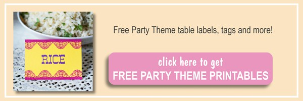 Free party theme printables including table cards, jar labels and more by ilonaspassion.com