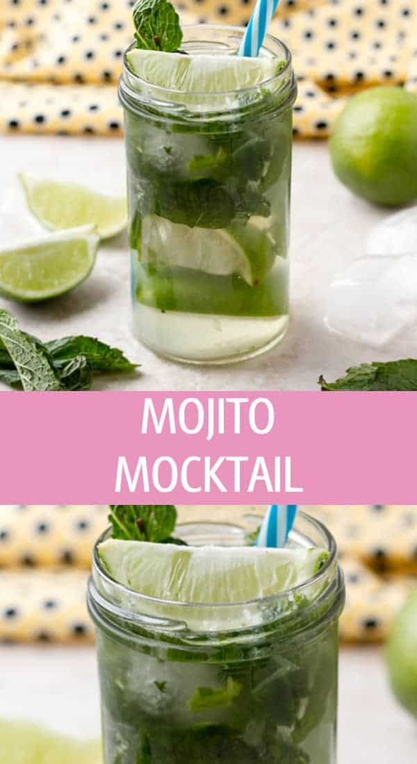 Virgin non alcoholic mojito mocktail recipe great for parties made with 4 easy ingredients by ilonaspassion.com I @ilonaspassion