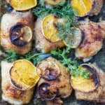 Lemon pepper chicken thighs baked in the oven by ilonaspassion.com I @ilonaspassion