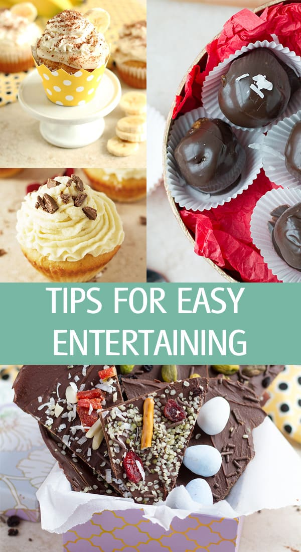 Event planning party ideas with cupcake, chocolate balls in a box.